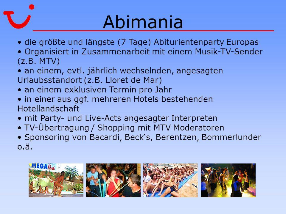 Abimania die größte und längste (7 Tage) Abiturientenparty Europas