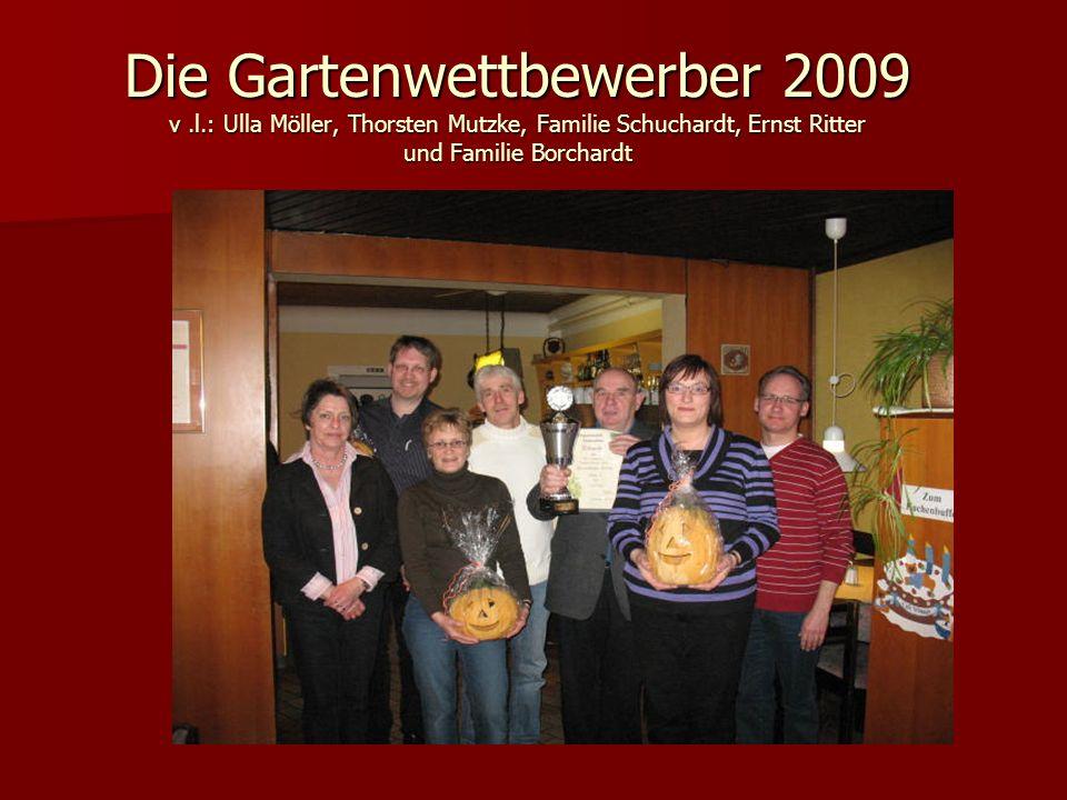 Die Gartenwettbewerber 2009 v. l