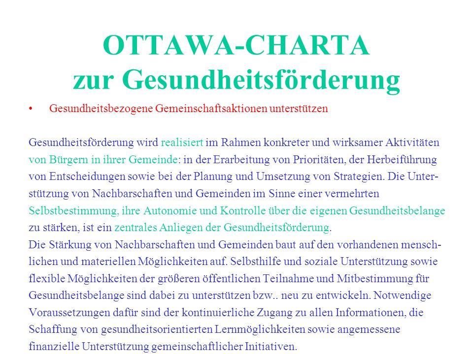 OTTAWA-CHARTA zur Gesundheitsförderung