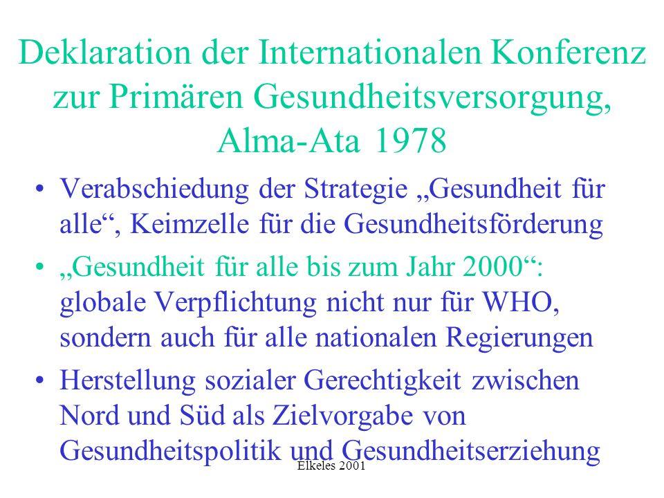 Deklaration der Internationalen Konferenz zur Primären Gesundheitsversorgung, Alma-Ata 1978
