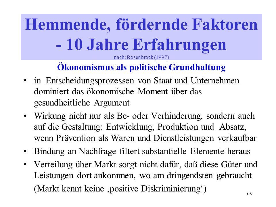 Ökonomismus als politische Grundhaltung