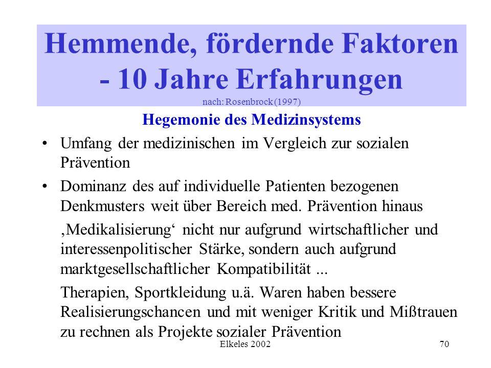 Hegemonie des Medizinsystems