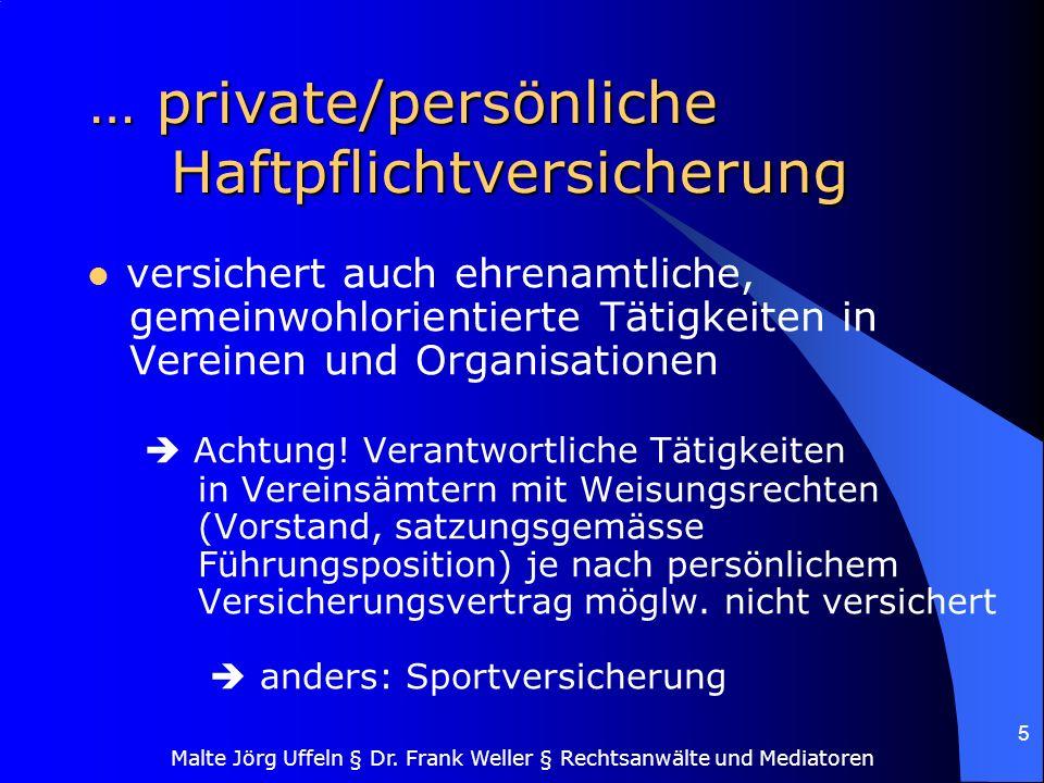 … private/persönliche Haftpflichtversicherung