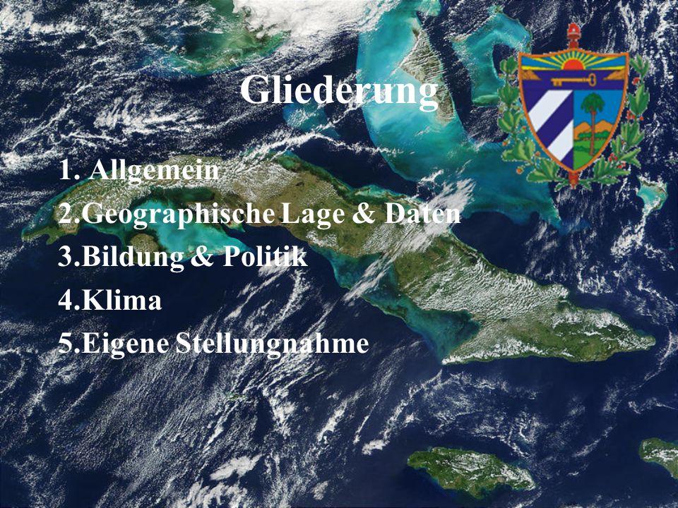 Gliederung 1. Allgemein 2.Geographische Lage & Daten