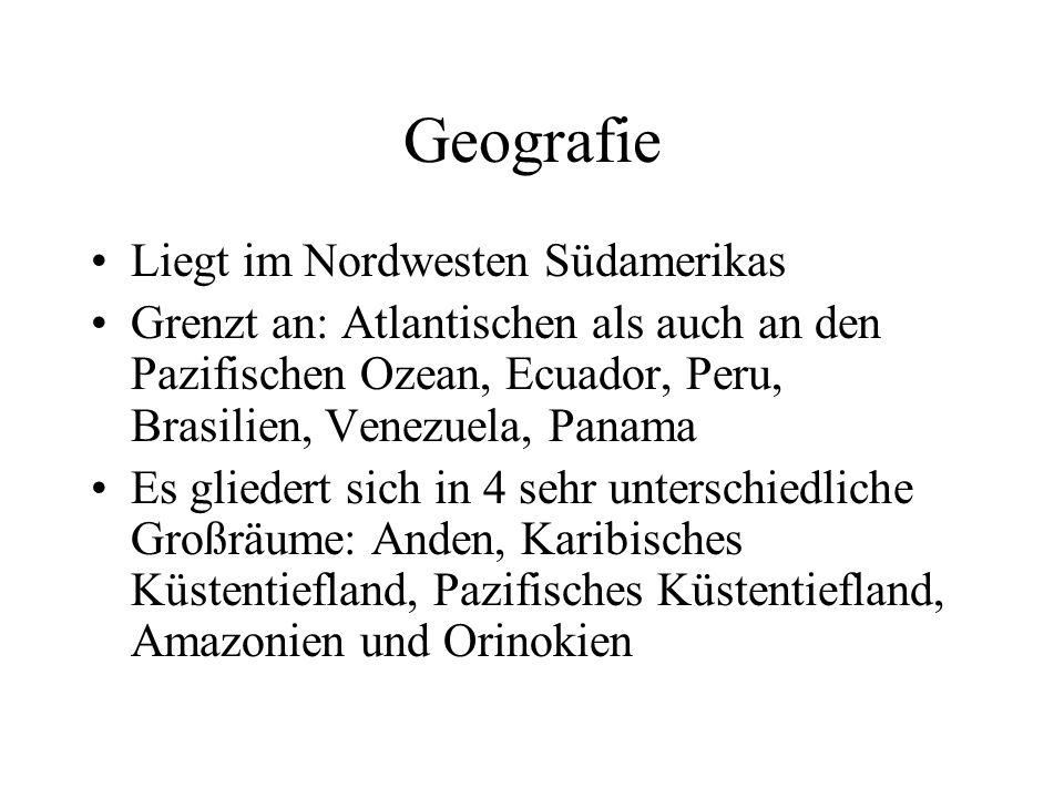 Geografie Liegt im Nordwesten Südamerikas