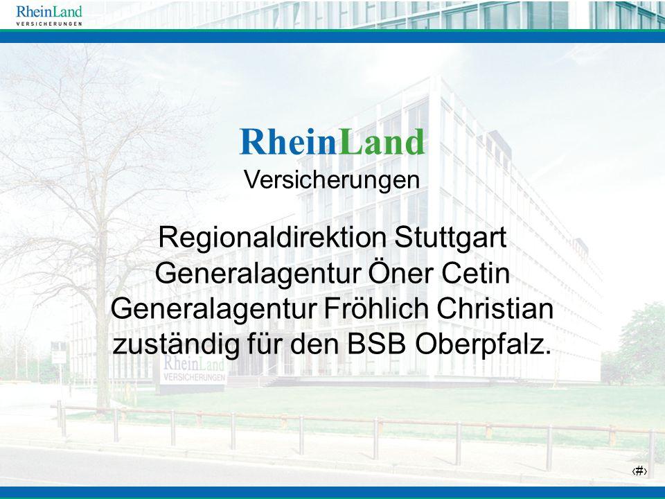 RheinLand Regionaldirektion Stuttgart Generalagentur Öner Cetin