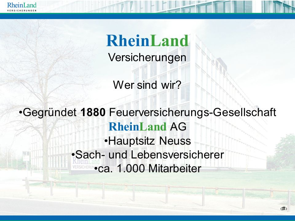 RheinLand Versicherungen Wer sind wir