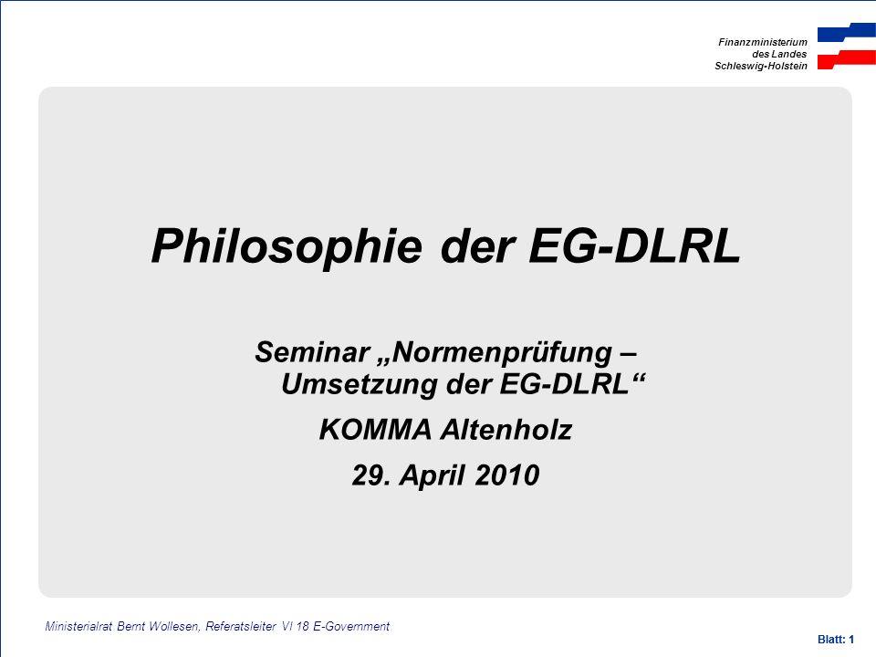 Philosophie der EG-DLRL