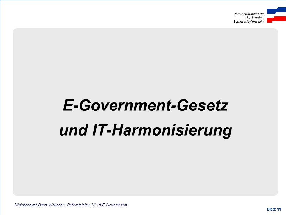 und IT-Harmonisierung