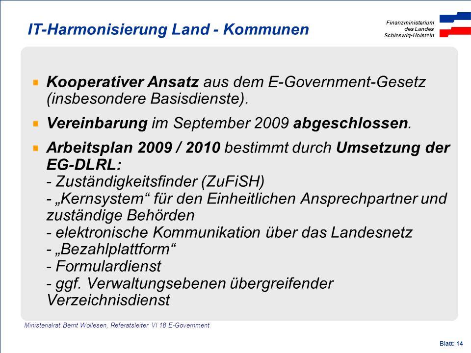 IT-Harmonisierung Land - Kommunen