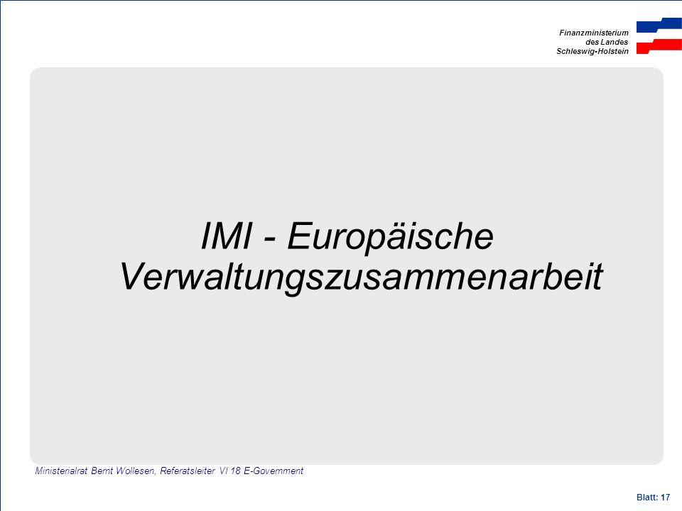 IMI - Europäische Verwaltungszusammenarbeit