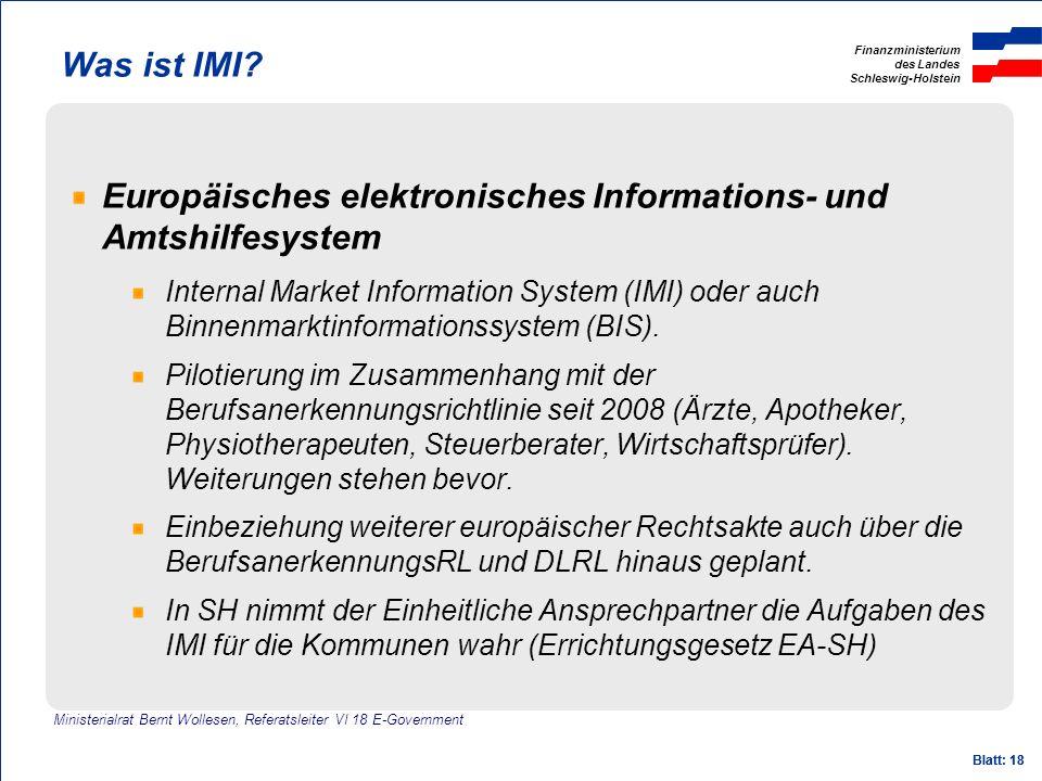 Europäisches elektronisches Informations- und Amtshilfesystem