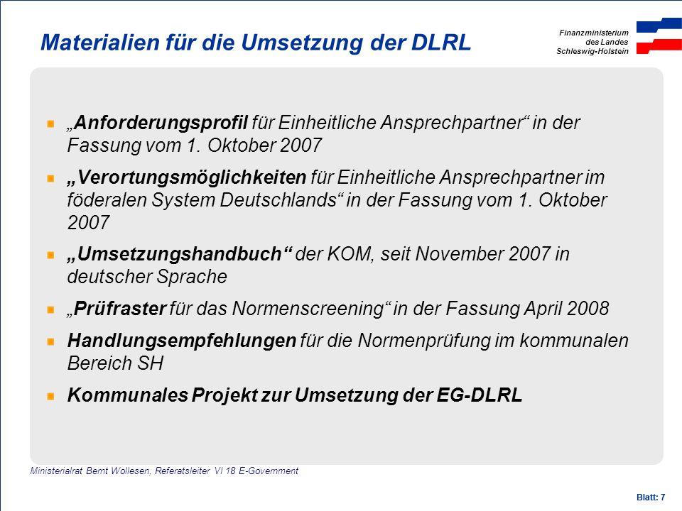 Materialien für die Umsetzung der DLRL