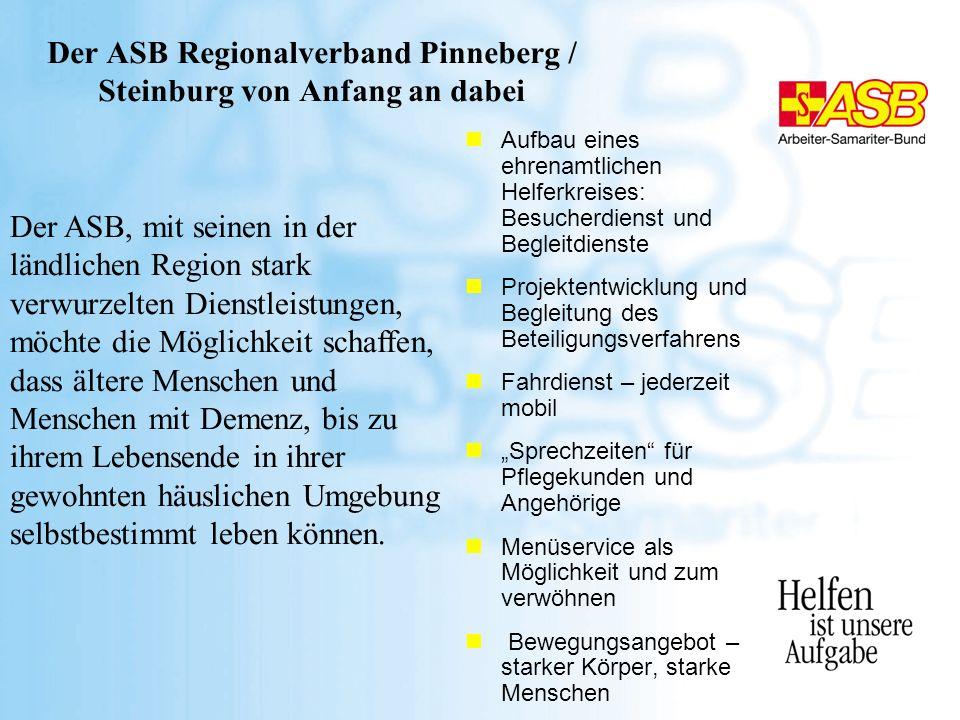Der ASB Regionalverband Pinneberg / Steinburg von Anfang an dabei