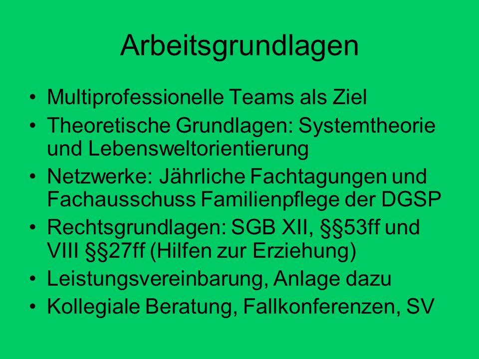 Arbeitsgrundlagen Multiprofessionelle Teams als Ziel