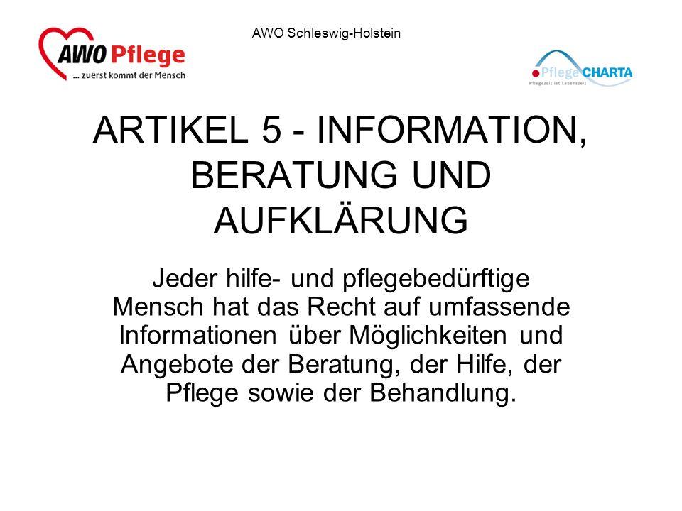 ARTIKEL 5 - INFORMATION, BERATUNG UND AUFKLÄRUNG
