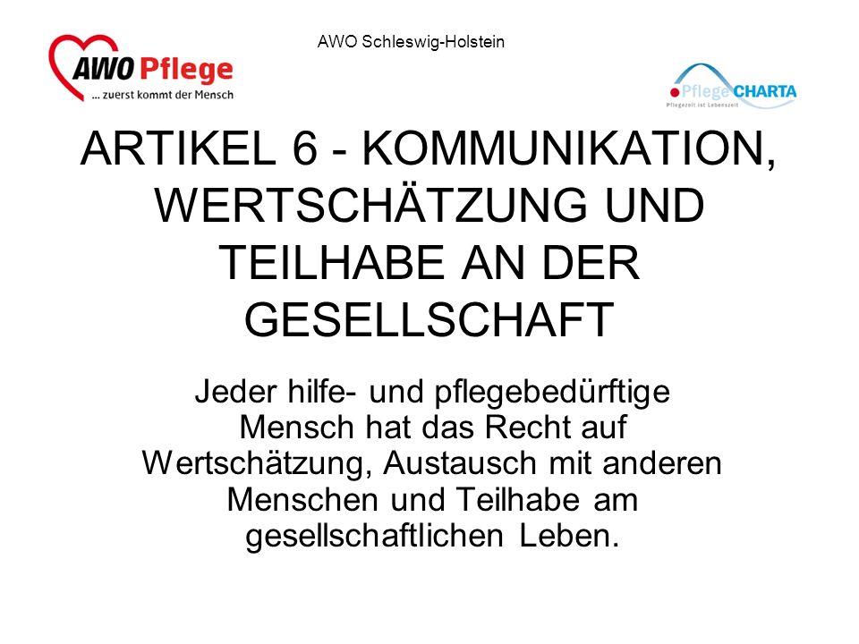 ARTIKEL 6 - KOMMUNIKATION, WERTSCHÄTZUNG UND TEILHABE AN DER GESELLSCHAFT