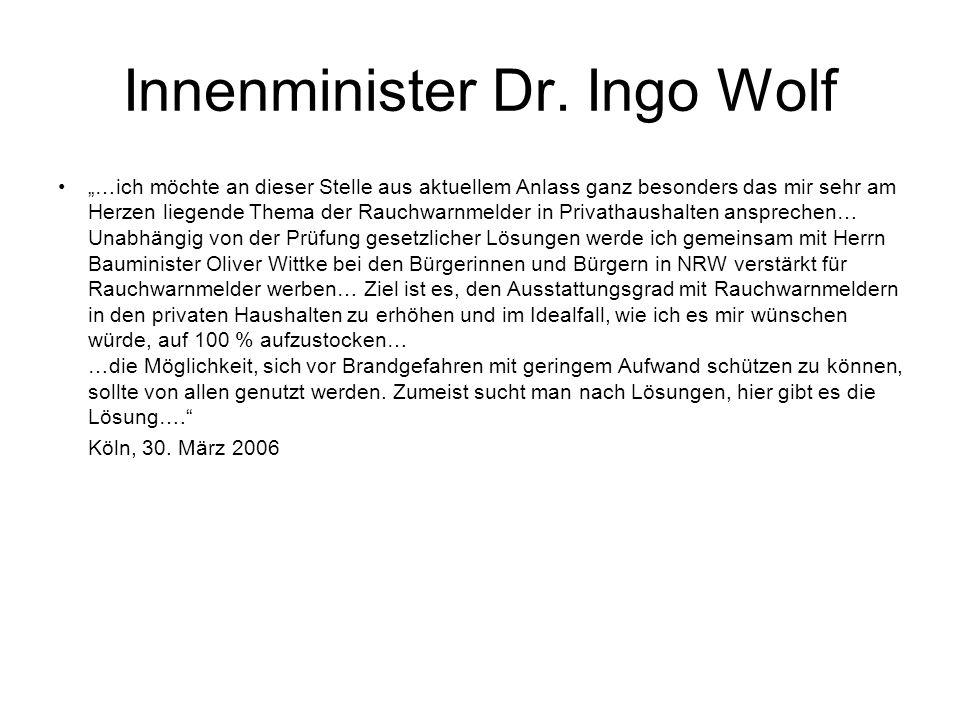 Innenminister Dr. Ingo Wolf