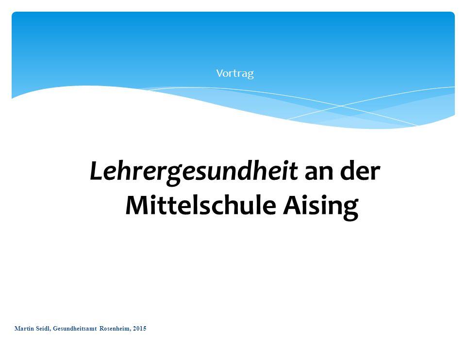 Vortrag Lehrergesundheit an der aMittelschule Aising