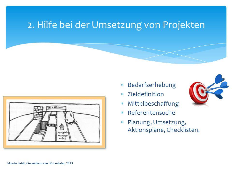 2. Hilfe bei der Umsetzung von Projekten