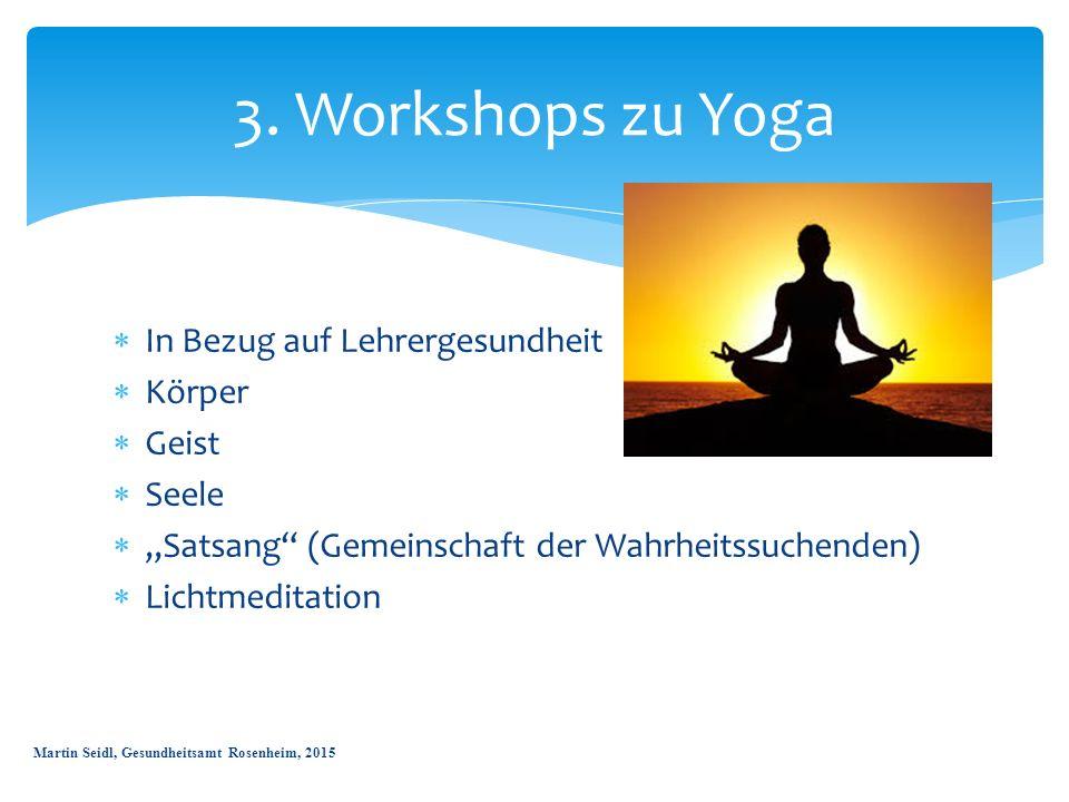 3. Workshops zu Yoga In Bezug auf Lehrergesundheit Körper Geist Seele