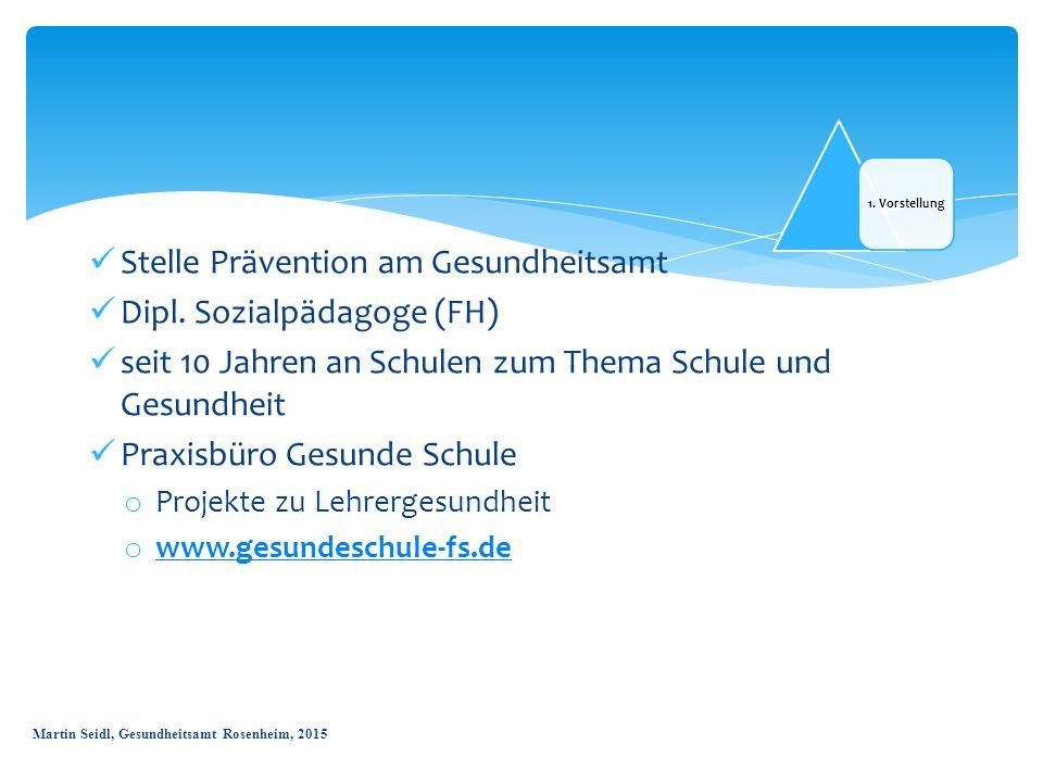 Stelle Prävention am Gesundheitsamt Dipl. Sozialpädagoge (FH)