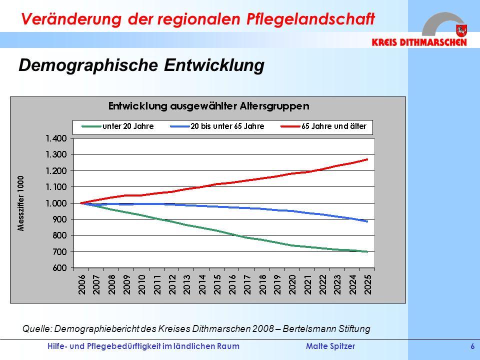 Veränderung der regionalen Pflegelandschaft