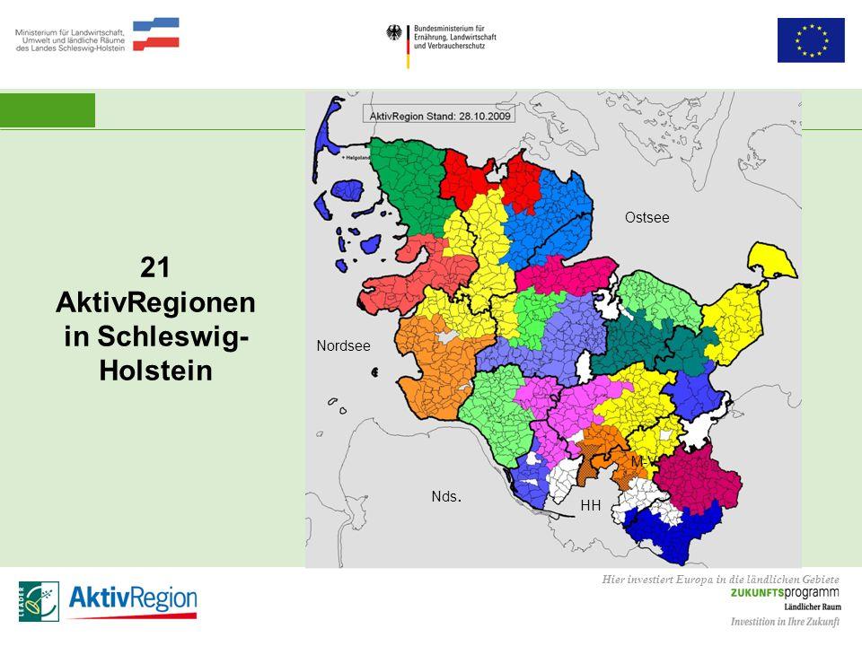 21 AktivRegionen in Schleswig-Holstein