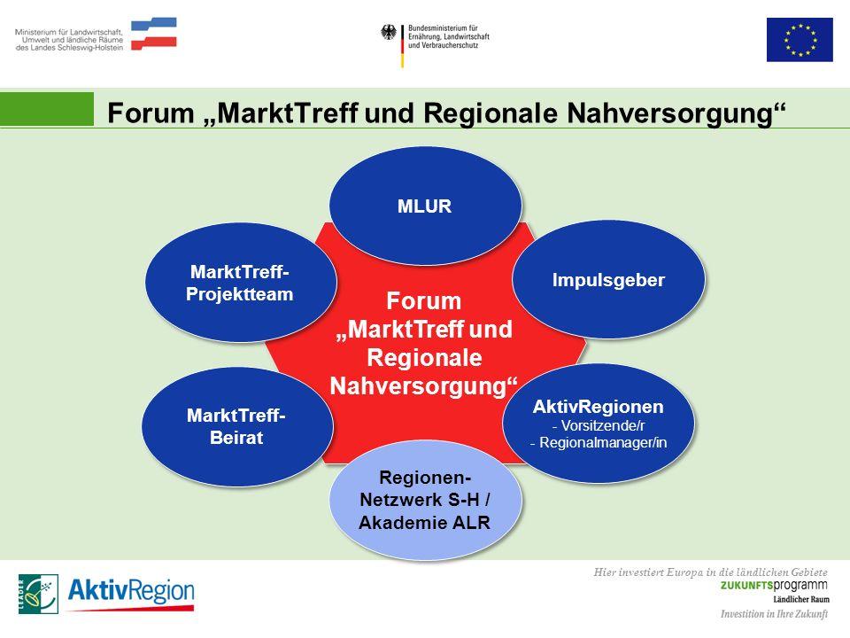 """Forum """"MarktTreff und Regionale Nahversorgung"""