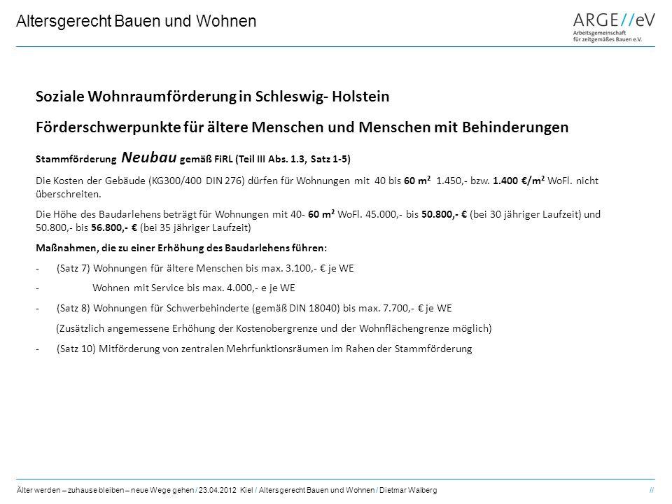 Soziale Wohnraumförderung in Schleswig- Holstein