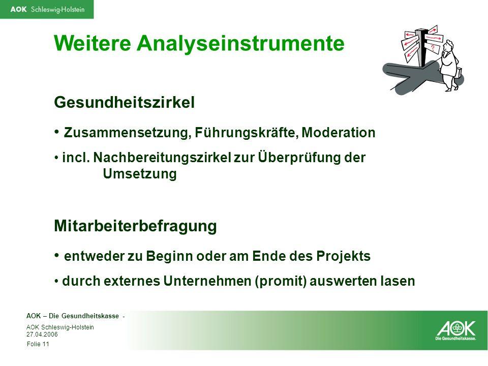 Weitere Analyseinstrumente