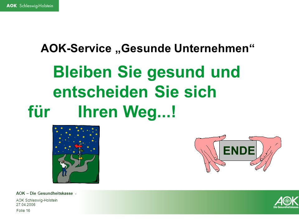 "AOK-Service ""Gesunde Unternehmen"