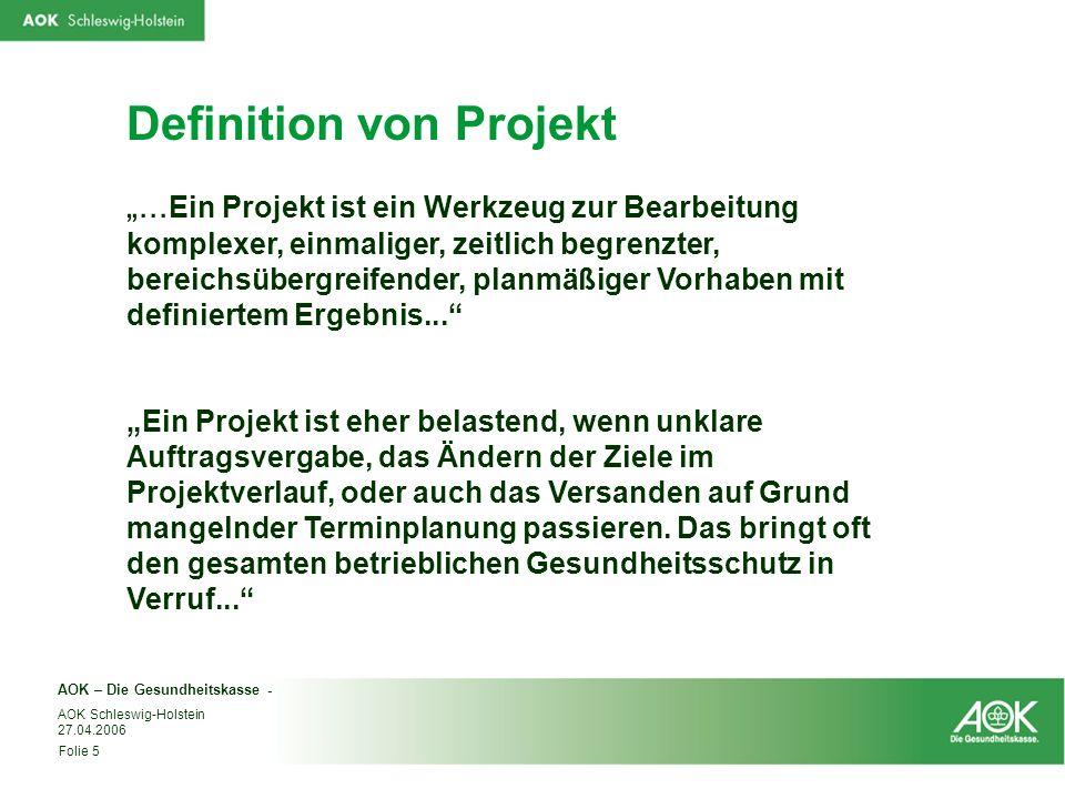 Definition von Projekt