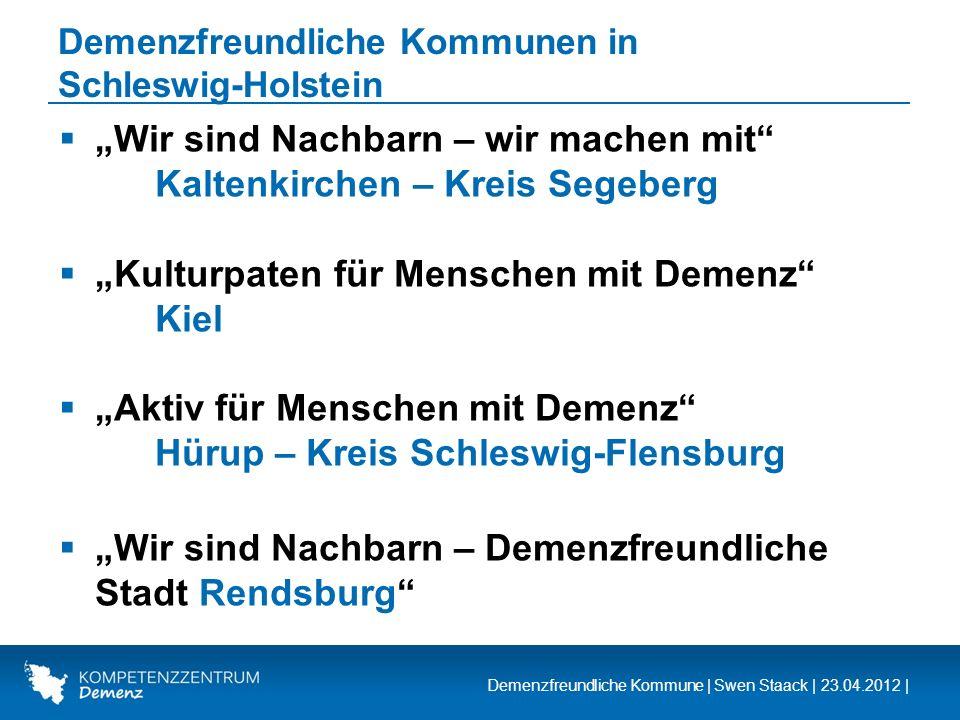 Demenzfreundliche Kommunen in Schleswig-Holstein