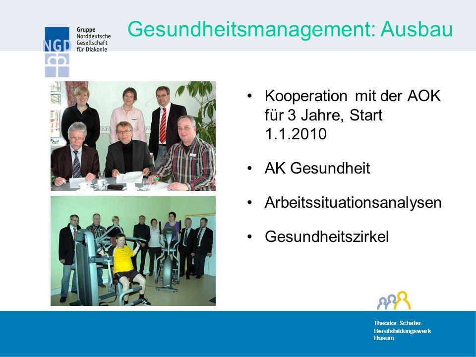 Gesundheitsmanagement: Ausbau