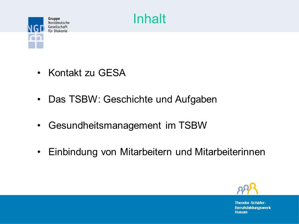 Inhalt Kontakt zu GESA Das TSBW: Geschichte und Aufgaben