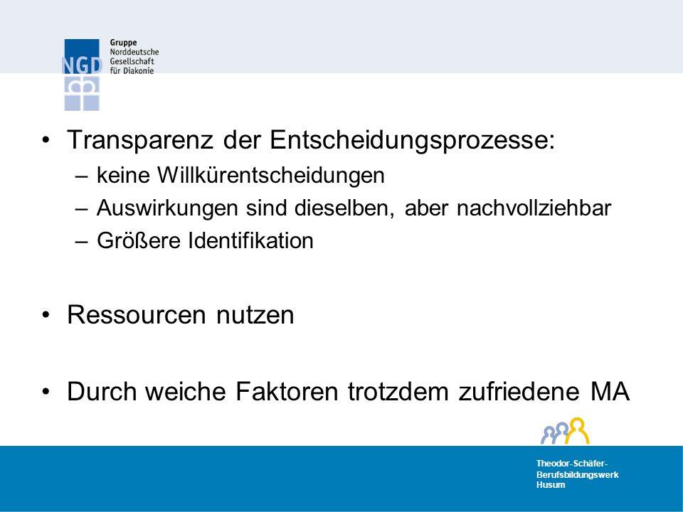 Transparenz der Entscheidungsprozesse:
