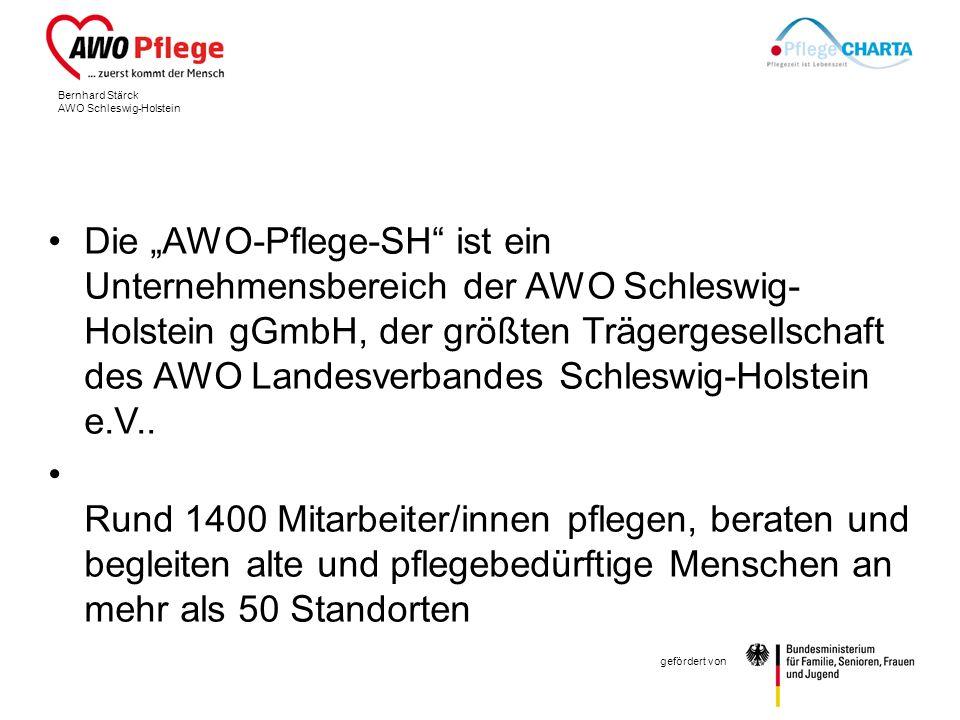 """Die """"AWO-Pflege-SH ist ein Unternehmensbereich der AWO Schleswig-Holstein gGmbH, der größten Trägergesellschaft des AWO Landesverbandes Schleswig-Holstein e.V.."""