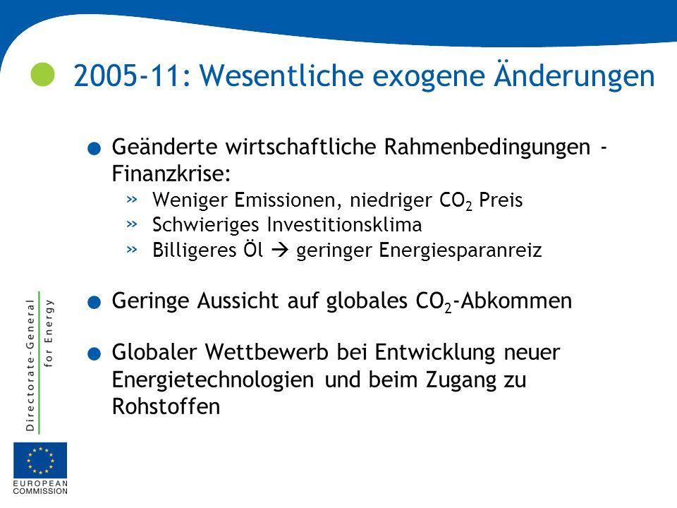 2005-11: Wesentliche exogene Änderungen
