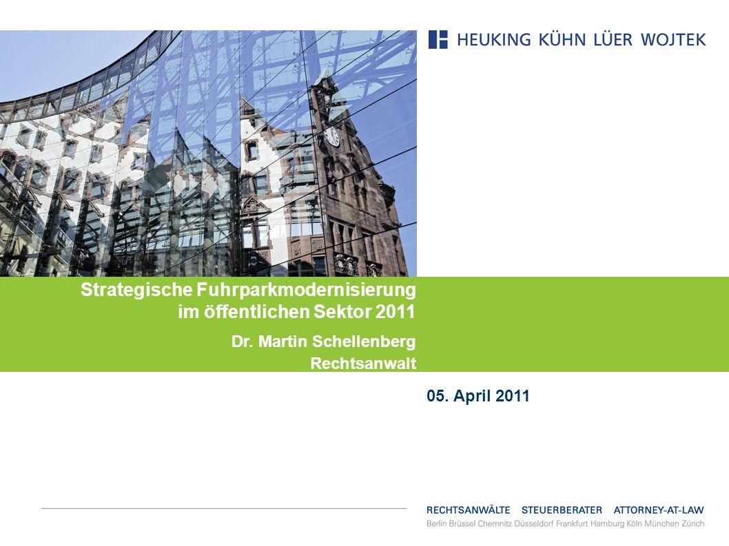 Strategische Fuhrparkmodernisierung im öffentlichen Sektor 2011