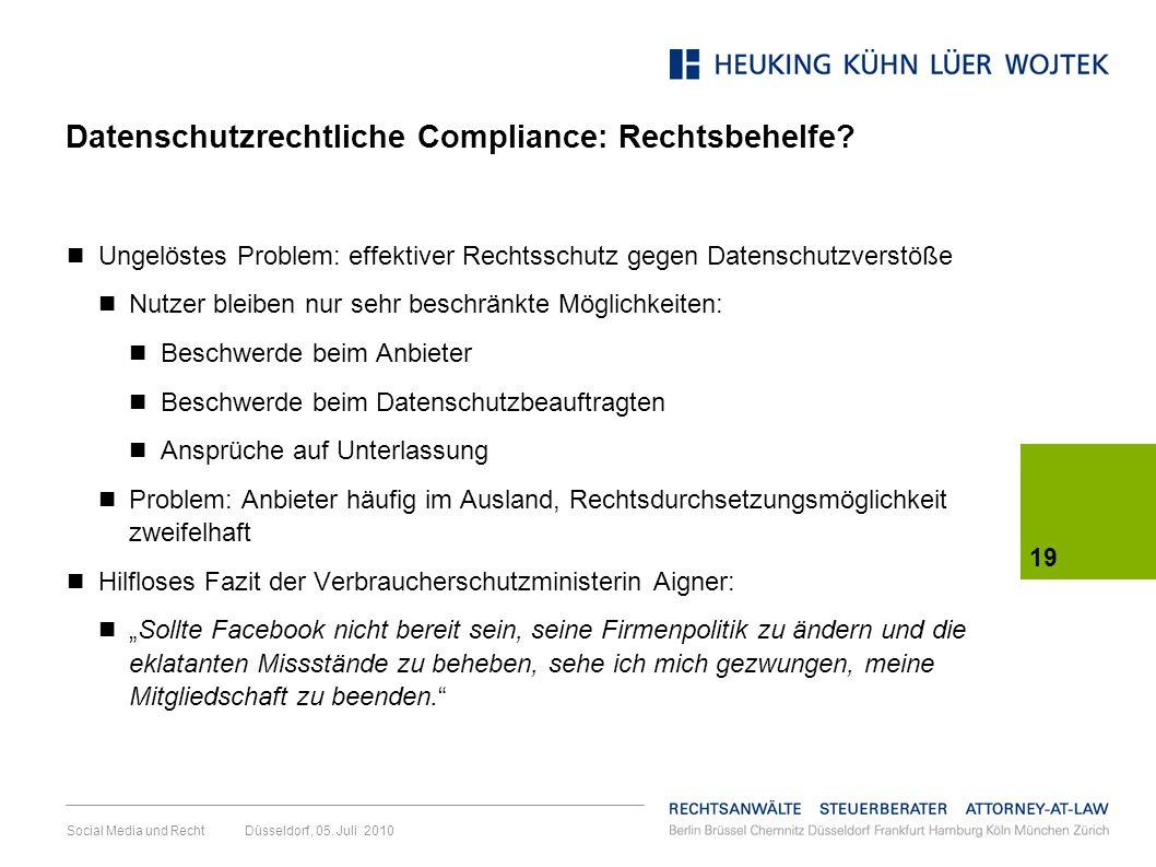 Datenschutzrechtliche Compliance: Rechtsbehelfe