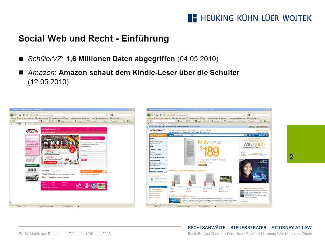Social Web und Recht - Einführung