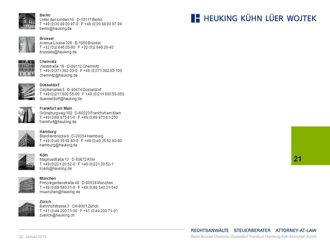 Berlin Unter den Linden 10 · D-10117 Berlin T +49 (0)30 88 00 97-0 · F +49 (0)30 88 00 97-99 berlin@heuking.de