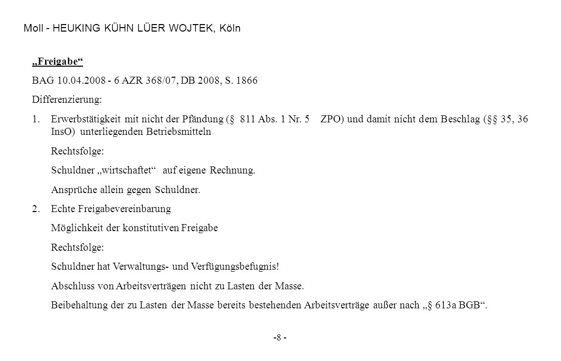 Moll - HEUKING KÜHN LÜER WOJTEK, Köln
