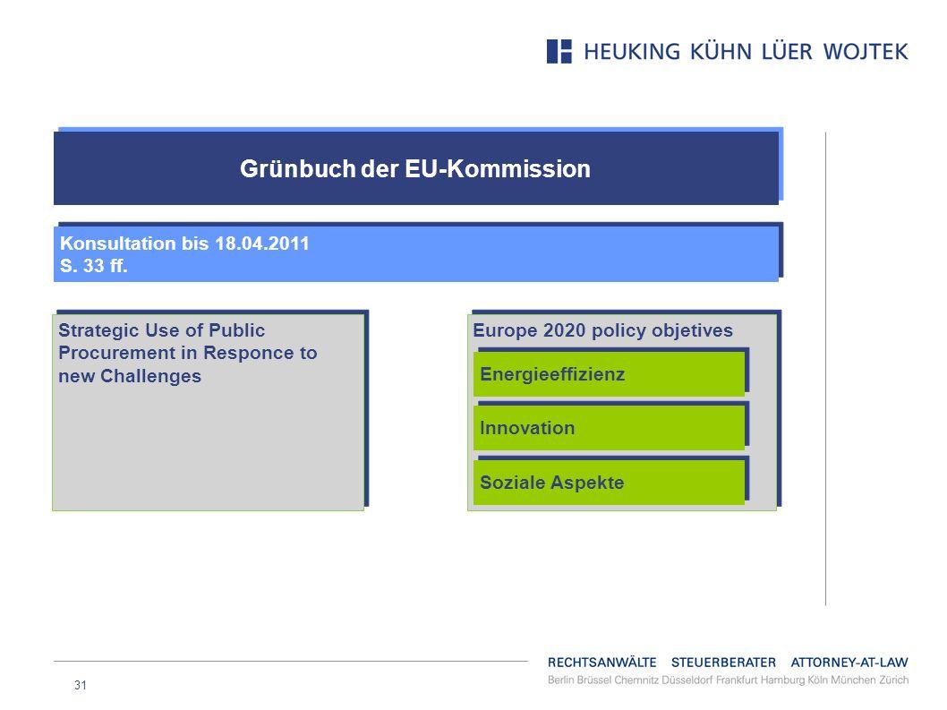 Grünbuch der EU-Kommission