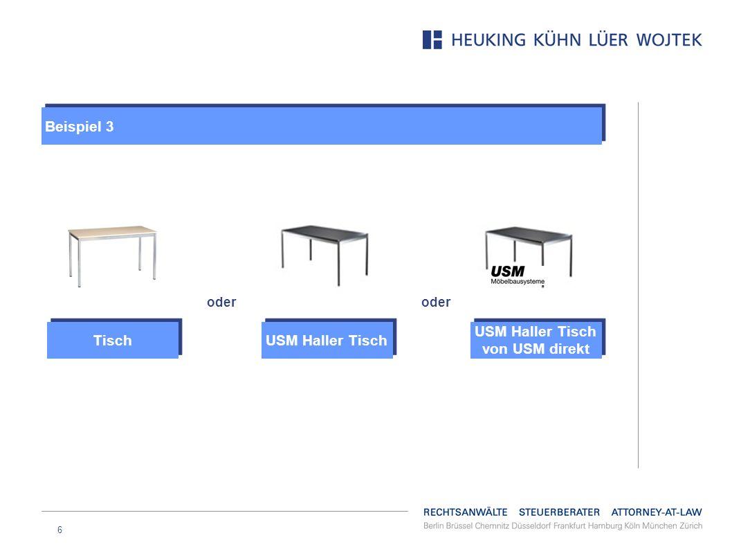 USM Haller Tisch von USM direkt