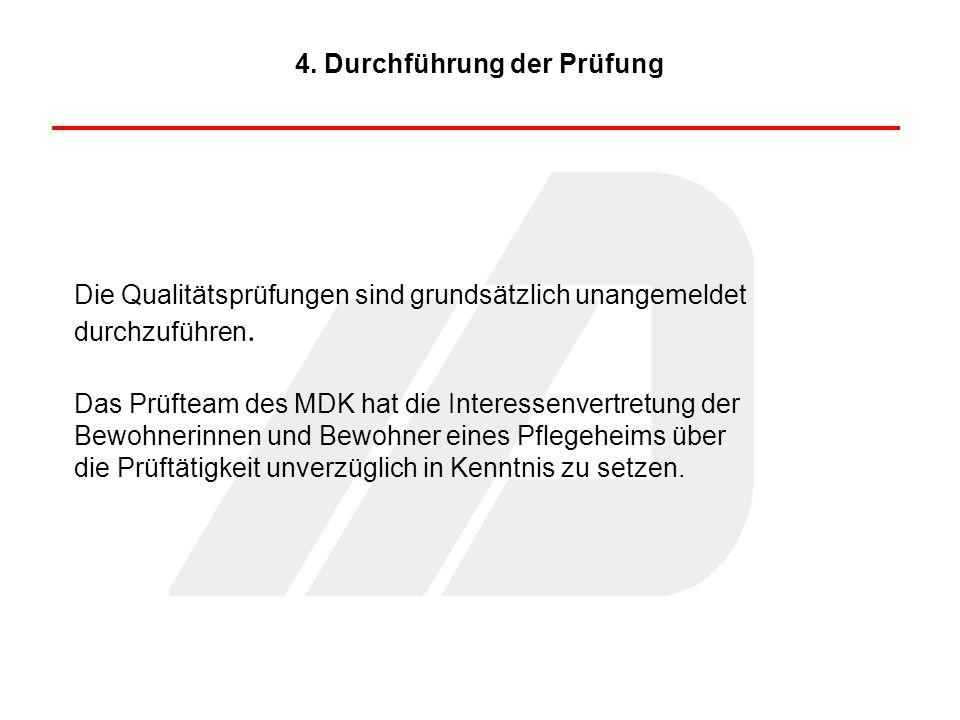 4. Durchführung der Prüfung