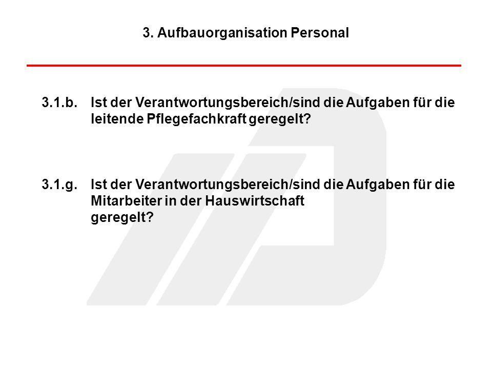 3. Aufbauorganisation Personal