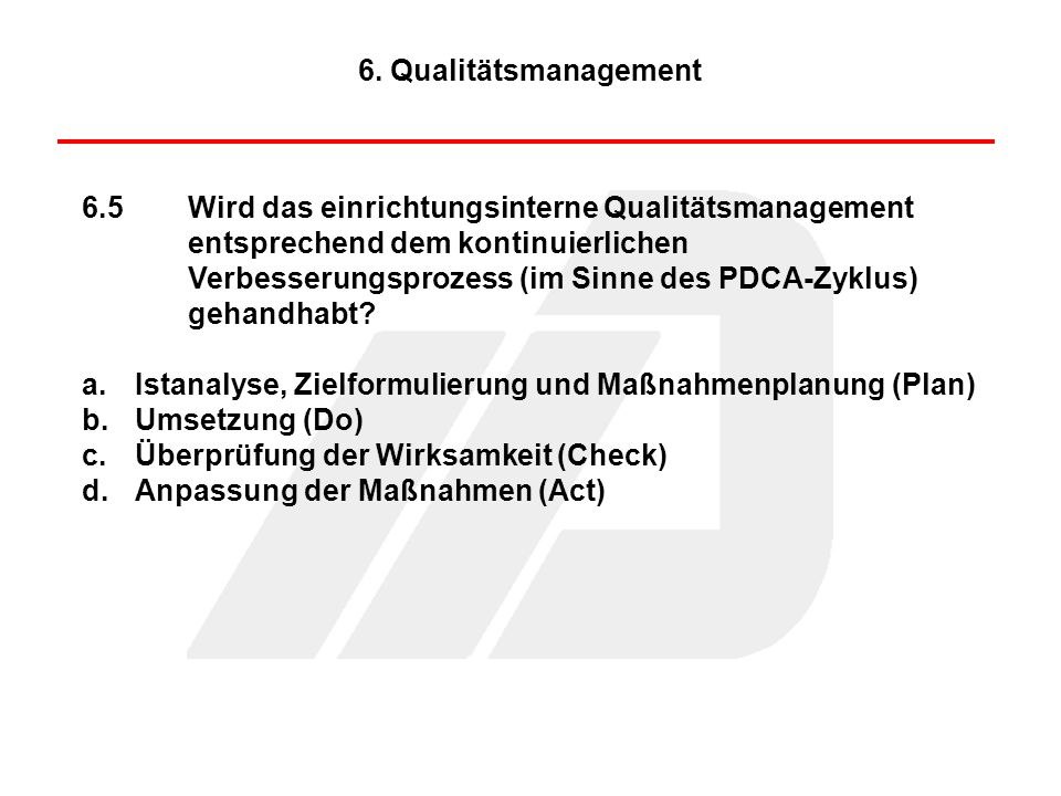 6. Qualitätsmanagement
