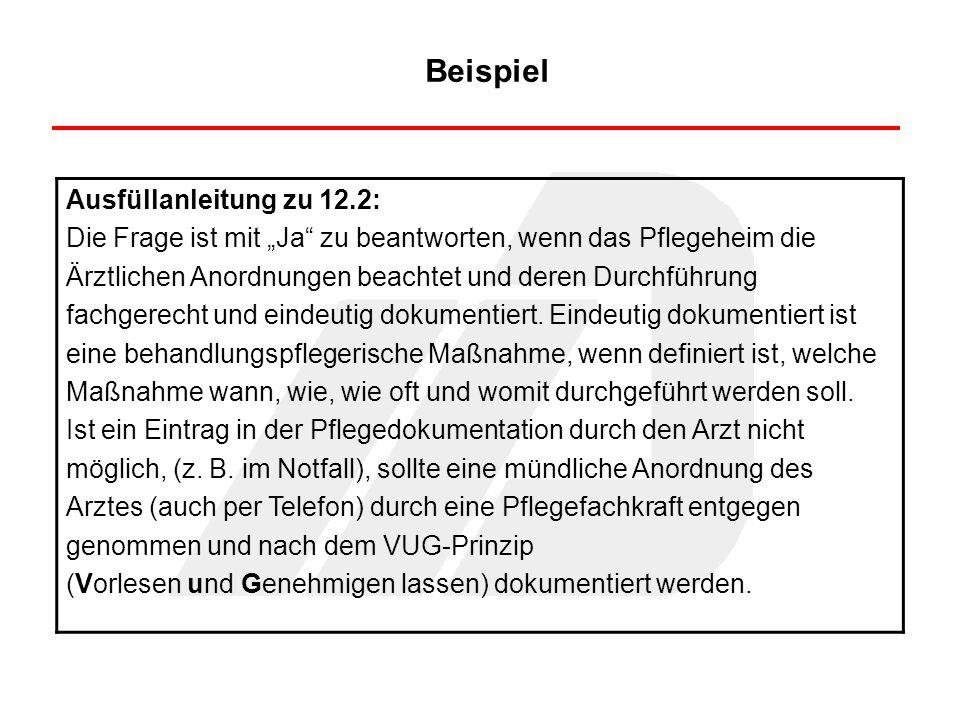 Beispiel Ausfüllanleitung zu 12.2: